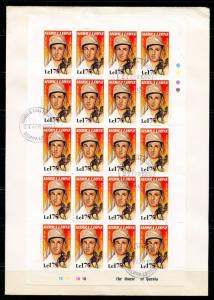 SIERRA LEONE SIR LAURENCE OLIVIER SET OF SHEETS OF 20  ON 8 FIRST DAY COVERS