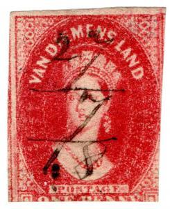 (I.B) Australia - Tasmania Revenue : Stamp Duty 1d