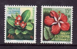 New Caledonia-Sc#304-5-unused NH set-Flowers-Flora-1958-