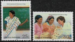 United Nations #524-5 MNH Set - Volunteer Day