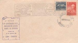 1952 Cuba Stamps Sc 473 Queen Isabella I Spain V Centenary FDC