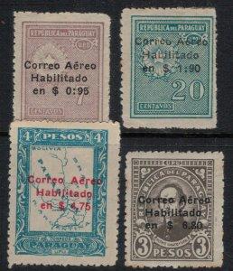 Paraguay #C13-4,6-7*  CV $2.65