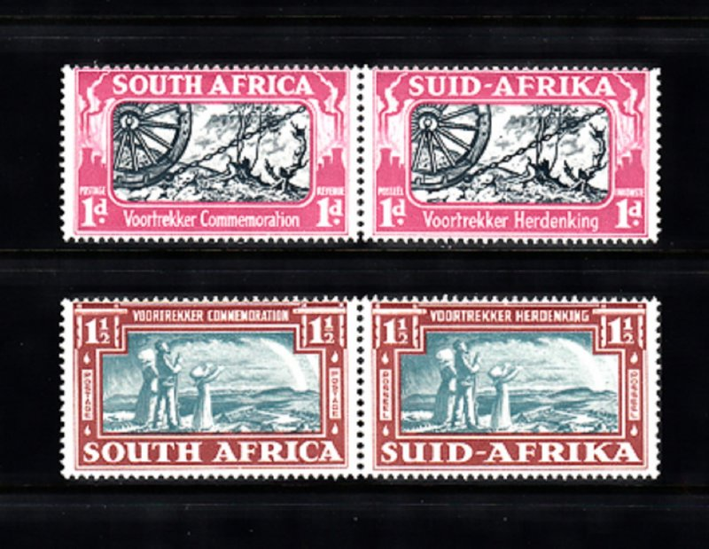 SOUTH AFRICA SC# 79, 80 PAIR MH - SALE TO A USA ADDRESS ONLY