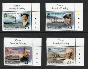 South Georgia 2020 Shackleton Unsung Heroes  set Superb MNH condition.