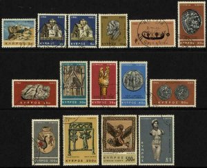 Cyprus SG283/96 Set of 14 Fine Used Cat 10 pounds