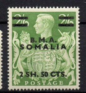 BMA Somalia 1950s Early Issue Fine Mint Hinged 2S.50c. Surcharged Optd NW-14627