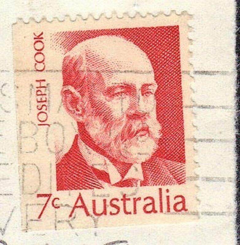 AUSTRALIA SC# 515 USED 7c 1972  JOSEPH COOK  SEE SCAN