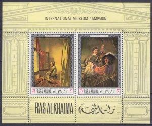 1968 Ras Al Khaima 247-48/B43 Artists / Rembrandt
