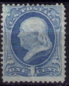 US Sc 145 Unused, Mint, No Gum Dark Ultra  F-VF