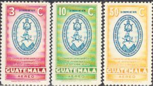 Guatemala #C163-C165 MNH