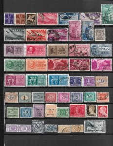 COLLECTION LOT OF 51 ITALY BOB STAMPS 1870+