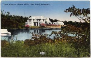 Bermuda Post Card Showing View of Tom Moore's House (The Irish Poet}