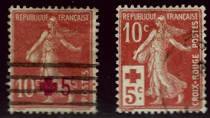 Important Semi-Postal France B1& B2 Used VF...From a great auction!