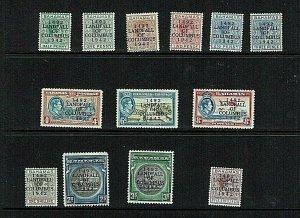 Bahamas: 1942 450th Anniversary Landfall of Columbus ovpts. set to 5/- Mint