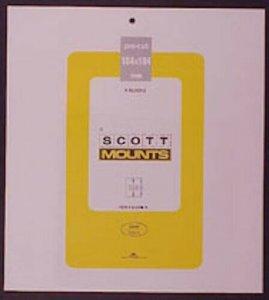 Scott/Prinz Pre-Cut Souvenir Sheets Small Panes Stamp Mounts 184x184 #1014 Black