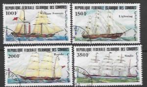 Set of 4 Sailing Ships