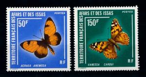 [70649] Afars and Issas 1976 Insects Butterflies  MNH