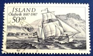 Iceland Olafsvik Trading Station 300th Anniversary Scott # 637 Used (I512)