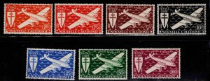 New Caledonia (NCE) Scott C7-C13  MH* 1942 airmail stamp set