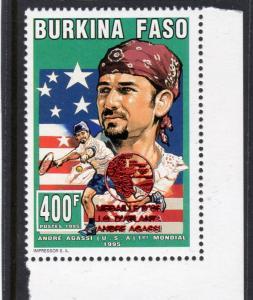 Burkina Faso 1995 Mi#A1364A Atlanta Olympic Winner Andre Agassi  Perforated MNH