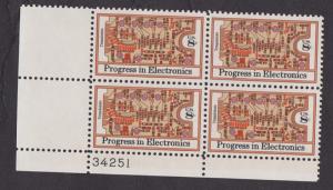1501 Progress in Electronics MNH Plate Block LL
