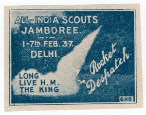 (I.B) India Cinderella : Stephen H Smith Rocket Mail (Delhi 1937)