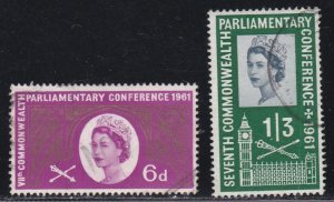 Great Britain # 385-386, Used, Complete Set