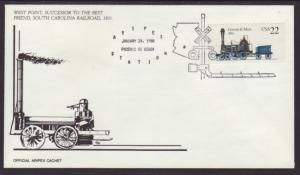 US Aripex 88 Locomotive West Point Cover BIN