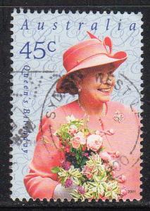 Australia #1954 - Used - Queen Elizabeth II (cv $0.75) (3)