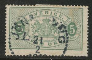 SWEDEN Scott o15 used 1884 official stamp