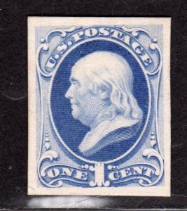 $US Sc#156p4 M/H/VF-XF, plate proof on card, Cv. $300