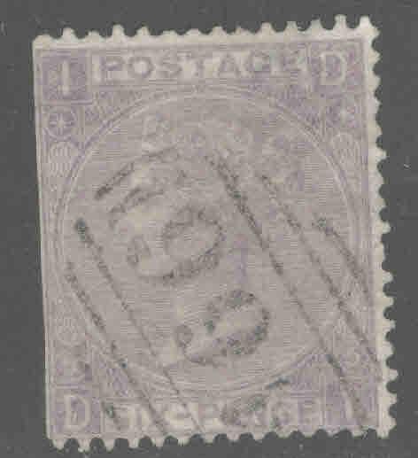 Great Britain Scott 45, Victoria  CV$85 1865