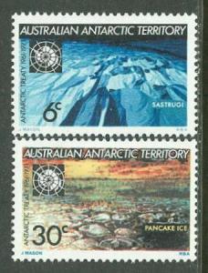 Australia # L19-20 Antarctic Treaty    (1) Mint NH
