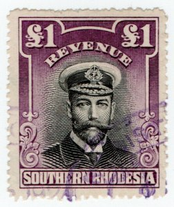 (I.B) Southern Rhodesia Revenue : Duty Stamp £1