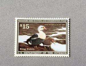 RW58, King Eiders:, Mint, OGNH