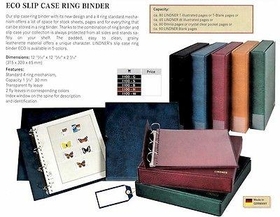 Lindner Slipcase Ring Binder ECO Green (Item 1100-G)