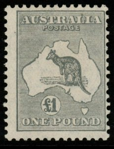 AUSTRALIA SG137 1935 £1 GREY DIE IIB MTD MINT CENTRED RIGHT