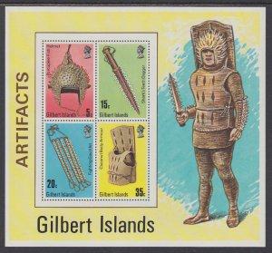 Gilbert Islands 292a Artifacts Souvenir Sheet MNH VF