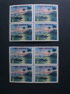 PHILIPPINES-1960-SC#817-8- WORLD REFUGEE YEAR -MNH BLOCKS- VERY FINE