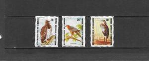 BIRDS - CAMEROUN #738-740  MNH