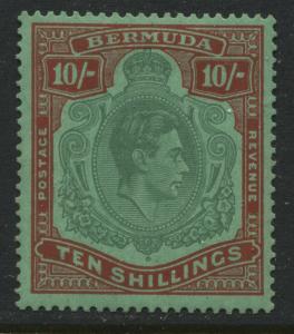 Bermuda KGVI 1939 10/ perf 14 mint o.g.