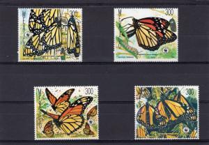 Mexico 1988 WWF/BUTTERFLIES set (4v) MNH Sc.# 1559-1562