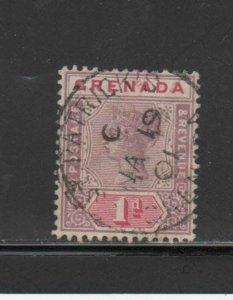 GRENADA #40   1895  1p  QUEEN VICTORIA     F-VF  USED  a