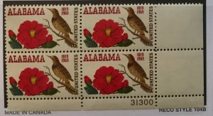 US #1375 PB (MNHOG) [Plate Block Mint No Hinge Original Gum] Alabama