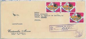 GEOLOGY \ MINERALS - BOLIVIA - POSTAL HISTORY - oversize   COVER to ITALY 1976