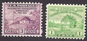 727-728 Mint,OG,H... SCV $0.50