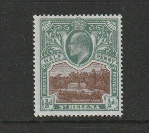 St Helena 1903 EDV11 1/2d &  1d MM SG 55/6