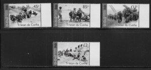 Tristan da Cunha 1157-60 75th D-Day set MNH (lib)