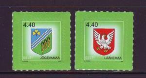 Estonia Sc 518-9 2005 Arms sefl adhesive stamps mint NH