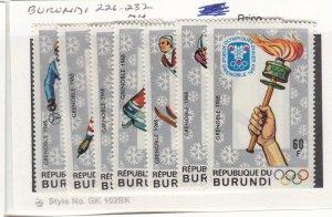 J26275  jlstamps 1968 burundi set mnh #226-32 olympics